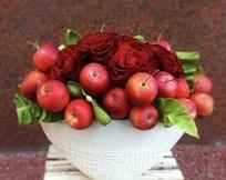 りんごとバラ